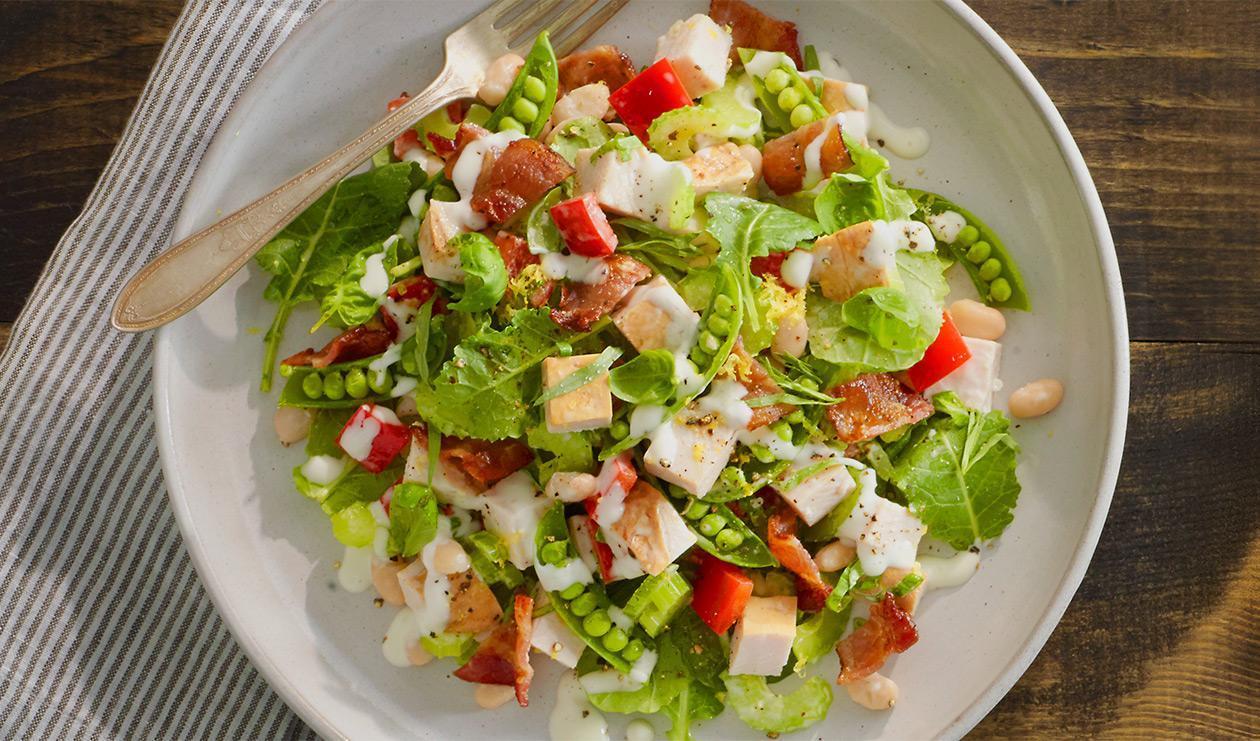Que diriez-vous d'une salade de dindonneau fumé ?